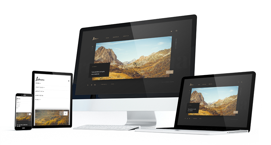 laterna bootstrap photography template