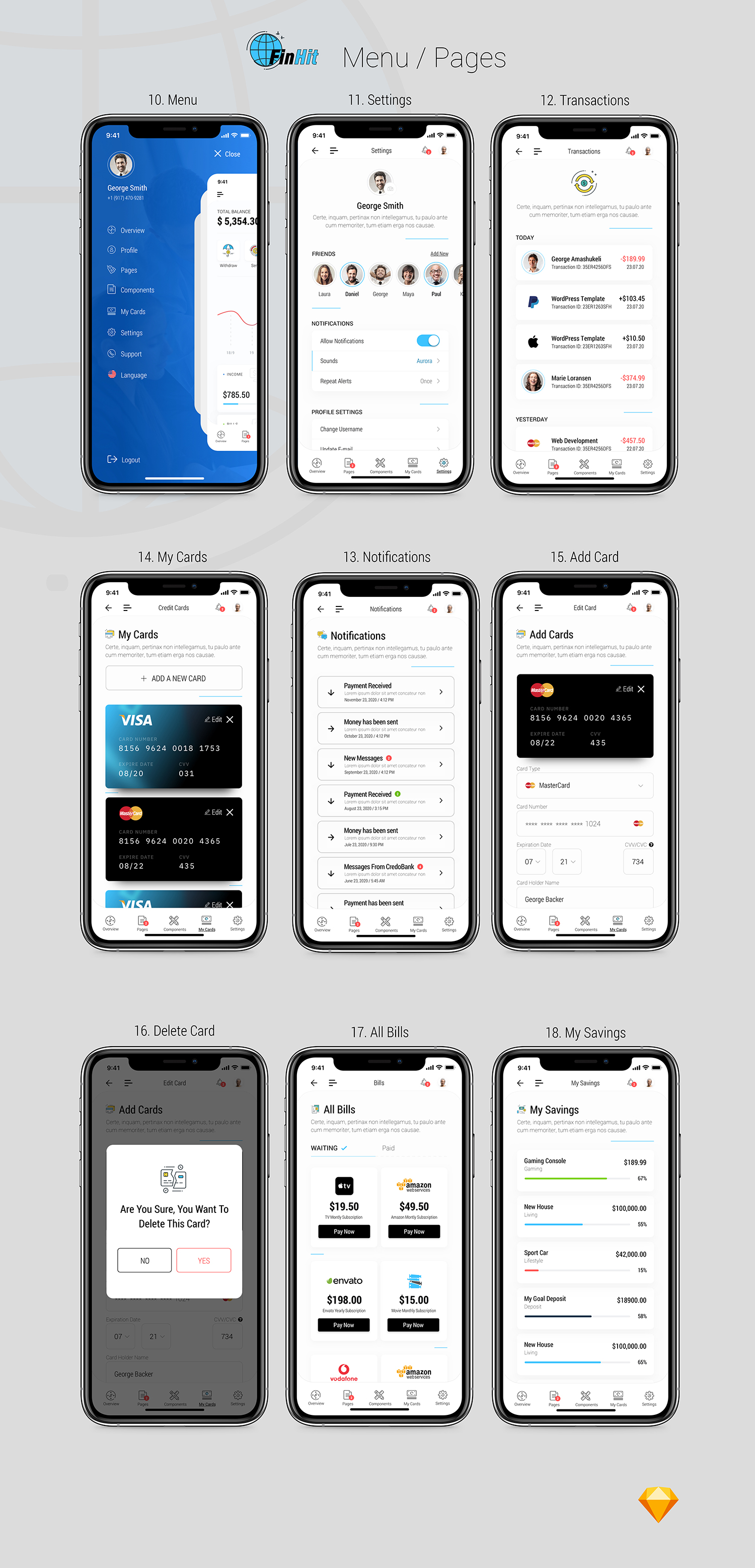 FinHit - Wallet & Banking UI Kit for iOS & Android - 7